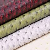 Cuir d'imitation de sacs à main de PVC de texture d'autruche