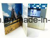 """1.8 """" à 10.1 """" cartes visuelles de cadeau de salutation de brochure d'affichage à cristaux liquides"""