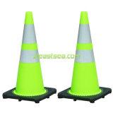 Kalk-Grün reflektierender Belüftung-Plastikverkehrs-Straßen-Kegel