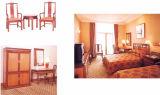 Jogo padrão da mobília do quarto do hotel da mobília de madeira