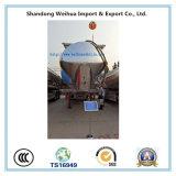 Reboque de pouco peso 60cbm do caminhão de petroleiro do cimento do volume da liga de alumínio