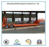 De hete Verkopende Semi Aanhangwagen van het Bed van 2 Assen Lage van de Lading van de Fabriek van China 30t
