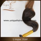 Европейская цена по прейскуранту завода-изготовителя выдвижений волос кератина Remy Balayage