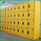 Gutes Quality Yellow 2 Column 4 Door Gym Locker mit Identifikation Card Digital Lock