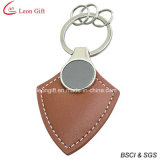 Atacado Cheap Pink PU Leather Blank Keychain (LM1154)