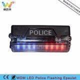 WDM LED parpadeante Policía Epaulet Light Duty