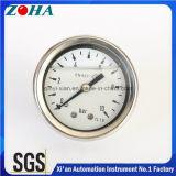 En837-1 olie - gevulde MiniatuurManometers met Ss Uitstekende kwaliteit van de Schakelaar van het Messing van het Geval de Achter