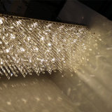 Qualitäts-hängender Projekt-Lampen-rechteckiger freier Kristallluxuxleuchter