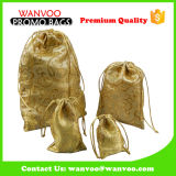Bolsa de encargo promocional de la tela de seda del bolso del regalo de la Navidad para la promoción del Año Nuevo