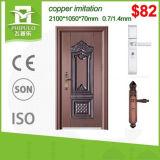 Puerta barata del hierro de la entrada de la seguridad del precio