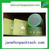 Rectángulo de papel del regalo del OEM de la flor de papel redonda de la caja de embalaje