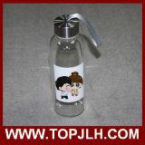 Garrafa de água de vidro impressa por atacado quente da transferência térmica