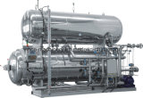 Stérilisateur de cornue de jet d'acier inoxydable d'eau chaude