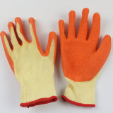 Handschoenen van uitstekende kwaliteit van de Hand van de Veiligheid van de Voering Polycotton de Latex Met een laag bedekte