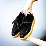 As sapatas as mais atrasadas da plataforma, senhora Couro Calçados, sapatilha da forma, estilo no.: Shoes-PS001 ocasional
