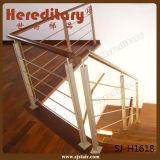 Balustre de balcon d'acier inoxydable du modèle 304 de Customed (SJ-H1618)