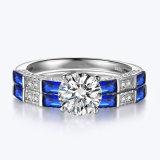 Blauwe Geplaatste Verlovingsring - 9