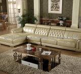 Tabella di tè usata blocco per grafici superiore di marmo dorato di lusso dell'acciaio inossidabile della Rosa