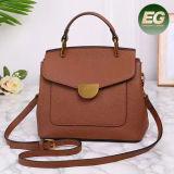 Soem-späteste Entwurfs-echtes Leder-Frauentote-Beutel-Franse-Form-Handtasche für Damen Emg5044