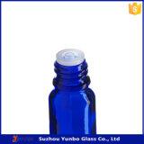 高品質10mlの帽子の18mmのアルミニウムねじが付いている青いガラス点滴器のびん