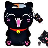 Nueva caja del teléfono del silicón del gato de la historieta del estilo para la cubierta del teléfono móvil de Oppo A33 A37 A59 F1s (G132)