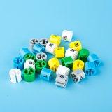 Etiqueta de plástico plástica de la talla de la dimensión de una variable redonda para la ropa (LT-8026-3)