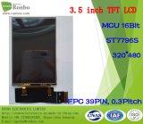 3.5 visualizzazione dell'affissione a cristalli liquidi di luminosità TFT del ODM di pollice 320X480 MCU 16bit 39pin alta