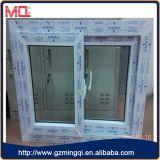 Ventana de PVC con doble vidrio templado de color blanco
