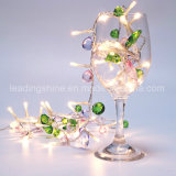 LED 정원 나무 크리스마스 결혼식 훈장 2017 새로운 최신 인기 상품을%s 다채로운 돌 요전같은 끈 빛 세트