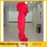 Traje largo de la mascota de Elmo de la mascota del Sesame Street de la felpa