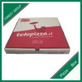 Rojo impresión de la insignia de papel corrugado caja de pizza