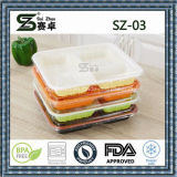 3compartment 처분할 수 있는 플라스틱 음식 쟁반, 마이크로파 안전