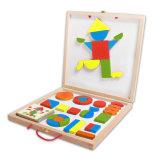 Juguetes magnéticos de madera del bloque para los cabritos y los niños