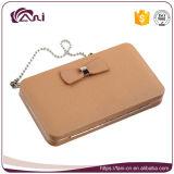 Fani o Deisgn o mais atrasado RFID que obstrui a carteira das mulheres, bolsa Chain da carteira com Bowknot