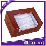 Лака рояля верхнего сегмента коробка польского деревянная упаковывая с окном