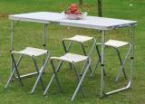 Het kamperen Eettafel met Stoel Vier