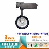 15W de zwarte/Witte LEIDENE van de MAÏSKOLF CREE Lichte Lamp van het Spoor voor Verlichting Comercial