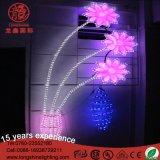 옥외 훈장을%s 다색 제 2 꽃 LED 주제 도로 빛