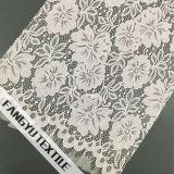 花および葉デザインナイロンレースファブリック