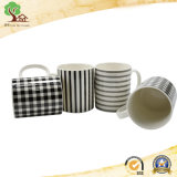 listras clássicas da forma 12oz e canecas cerâmicas de Checkes para a alta qualidade