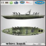Neuer Entwurfs-einzelner Fischen-Kajak mit Pedalen für Verkauf