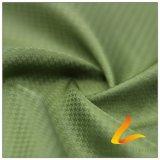 agua de 75D 260t y de la ropa de deportes tela sucia tejida chaqueta al aire libre Viento-Resistente 100% de la pongis del poliester del telar jacquar de la tela escocesa abajo (E209A)