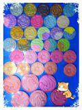 Het privé Gebakken Poeder van de Kleuren van de Kunst van het Etiket Ontwerp Gemengde Schoonheidsmiddelen