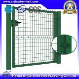 Frontière de sécurité enduite de treillis métallique de garantie de PVC pour la cour de jeu de jardin de sport