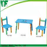 Schule-Stuhl und Studien-Tisch für Kinder, hölzerner Studien-Tisch und Stuhl für Kind-Schlafzimmer-Möbel, Stühle einer Tabelle-zwei