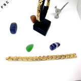 Bracelet personnalisé en or inoxydable de luxe Dubai Zircon pour femmes
