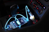 LED de flujo de luz visible Micro USB Data Dync Cable cargador para Samsung iPhone