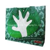 Bolso laminado tecido PP, sacola reusável com design Cunstom