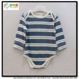 有機性綿の赤ん坊は縞の印刷のBodysuitsに着せる