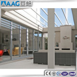 Levage lourd et glissement de la porte en verre en aluminium